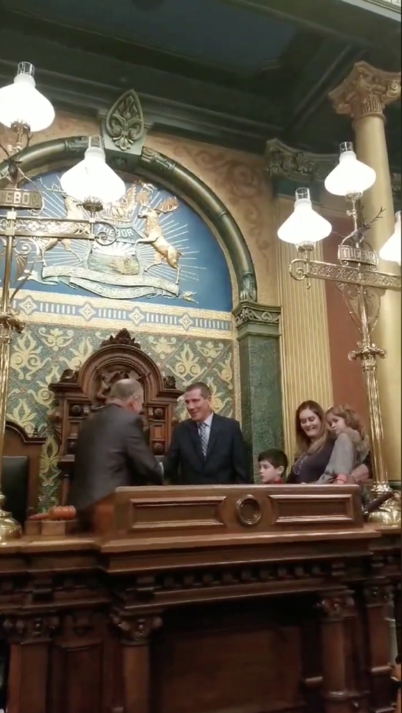 Nate gets sworn in for his first term (December 2018)